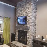 Interior fireplace